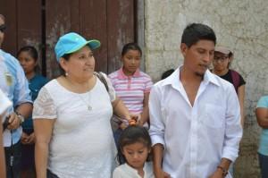 Raquel, madrina con  Wilber Maltez