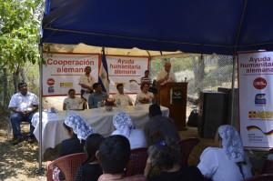 Lic. Agustín, Presidente de FUNDEMAC, explicando la importancia del proyecto.